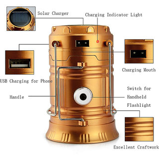 LANTERN PORTABLE CHARGER (MULTICOLOUR) Multicolor Plastic Lantern