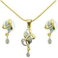 AAKSHI Iss Pyaar ka Koi Naam Nahi American Diamond 3-PC Jewellery Set