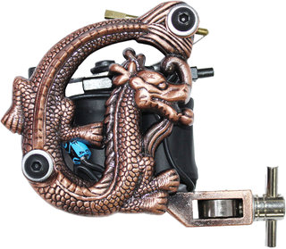 MUMBAI TATTOO MACHINE GUN 12 WRAP COIL TATTOO MACHINE (BROWN) (PACK OF 1)