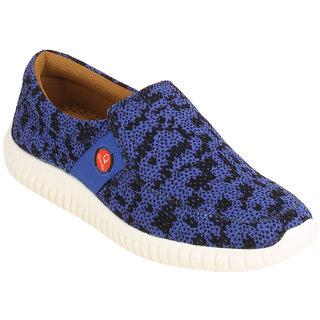 Quarks Men's Blue Smart Slip On Casual Shoes