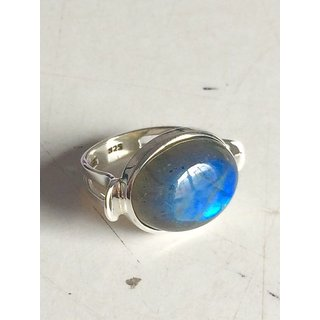 Labradorite Gemstone Studded Silver 925 Ring
