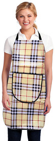 Dreams Home Single Pstable Apron PVC Waterproof Adjuith Front Pocket ,Brown