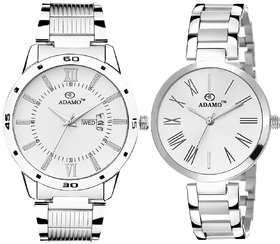 ADAMO Enchant Couple's Wrist Watch 812-2480SM01