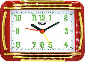 LOTUS Red Table Alarm Clock 1809