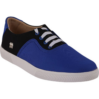 Quarks Men's Blue Smart Canvas Casual Shoes