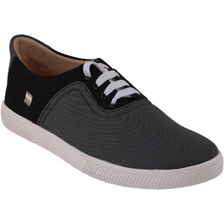 Quarks Men's Gray Smart Canvas Casual Shoes