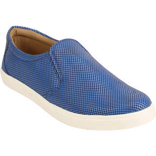 Quarks Men's Blue Synthetic Slip On Casual Shoes