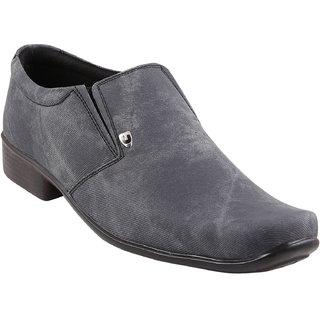 Quarks Men's Gray Smart Canvas Casual Shoes