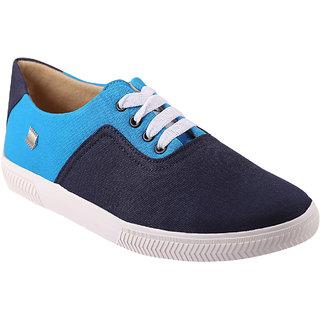 Quarks Men's Blue Smart Canvas Casual Shoes