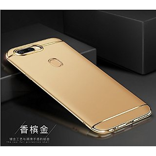 detailed pictures fac29 eebf2 Luxury 3 IN 1 Matte Finish Hybrid Back Case Cover Oppo F5 (GOLD)