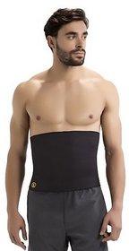 Neoprene Unisex Black Unisex Hot Waist Shaper Belt (Body Shaper)