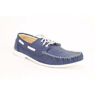Quarks Men's Blue Synthetic Smart Casual Shoes