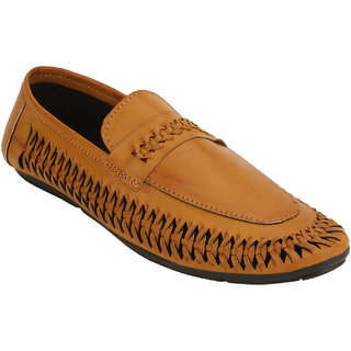 Quarks Men's Tan Synthetic Slip On Party Wear Casual Shoes