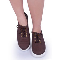 Trendy Look Brown Suede Sneakers