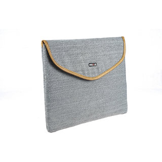 BagsRUs Grey Polyester Laptop Travel Sleeve