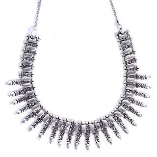 Mahima Women's Oxidised Silver Brass & Copper Necklace Sets