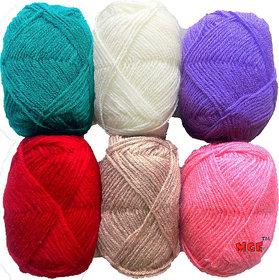 Vardhman Bunny 6 pc Mix 3 Combo Balls Combo hand knitting  Acrylic yarn wool balls thread for Art & craft, Crochet and needle