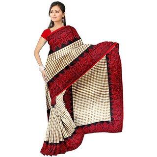 Svb Saree Red Colour Bhagalpuri Silk SAree Without Blouse