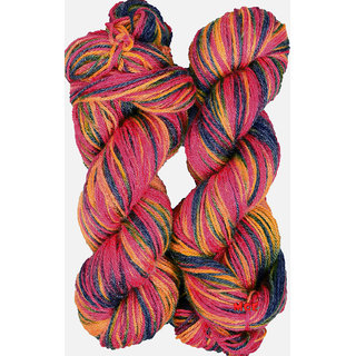 M.G Multi Rowan 200 gm hand knitting Soft Acrylic yarn hank wool thread for Art & craft, Crochet and needle