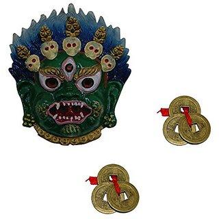 Aaradhi Divya Manta Tibetian Mahakala Mask Combo Pack (Multicolor)