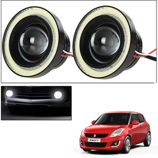 Car Fog Lamp Angel Eye DRL Led Light For Maruti Suzuki Swift