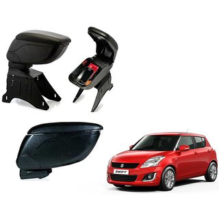 Black Arm Rest Console For Maruti Suzuki Swift