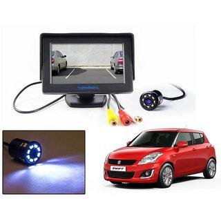 Reverse Parking Camera Display Combo For Maruti Suzuki Swift - Night Vision Camera with 4.3 inch LCD TFT Monitor Display