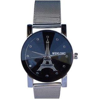 Wenlong super crystal Glass Black dile Best Designing Stylish Wrist Watch for Women