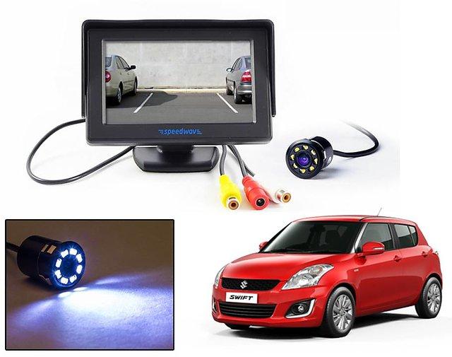 Reverse Parking Camera Display Combo For Maruti Suzuki Swift - Night Vision  Camera with 4 3 inch LCD TFT Monitor Display