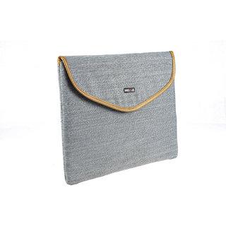 BagsRUs Grey Polyester Laptop Travel Sleeve