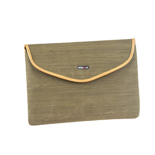 BagsRUs Olive Polyester Laptop Travel Sleeve
