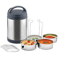 Power Plus Stainless Steel Lunch Box With 4 Containers - H56