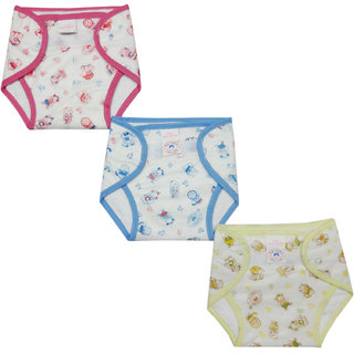 Mother Choice Velcro Nappy Inside Terry New Born, Set Of 3