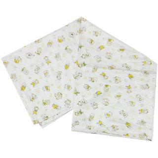Mother Choice Yellow Print Baby Plastic Sheet, Medium