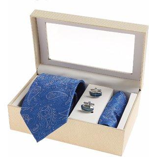 Sir Michele Designer Men's Blue Silk Casual Broad Ties