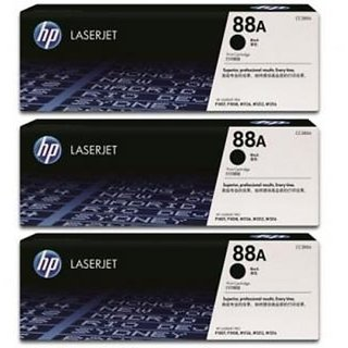 HP 88A Black Toner Cartridge CC388A 3 Pack