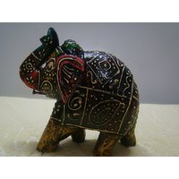 Beautiful Wooden Elephant Sculpture Handmade Figurine Home Decor Statue Gift