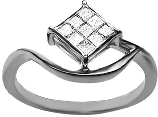 Azira Jewels Reverso Folium Diamond Ring