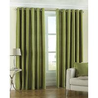 Shop 24x7- Set Of 2 Solid Plain Eyelet Door Curtain(4x7ft) - 6286398