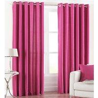 Shop 24x7- Set Of 2 Solid Plain Eyelet Door Curtain(4x7ft)