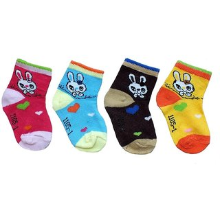 Z Decor 6 Pairs Kids Socks Assorted Colors