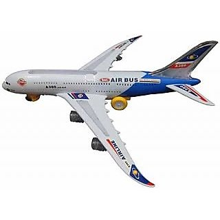 Airbus Plane Flashing Lights  Music toy Battery Operated Bump N Go Aeroplane