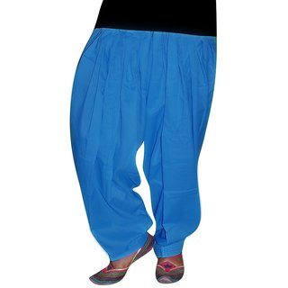 Bansal Collection Blue Cotton Patiala Salwar BC=013