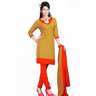78013032773f Yellow Crepe Ladies Dress Material Prices in India- Shopclues- Online  Shopping Store