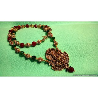 Stunning Lakshmi devi Temple Long Necklace
