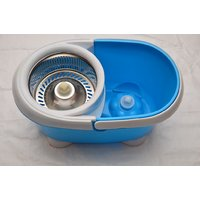 360 Degree Magic Spin Mop With Stainless Steel Bucket For Easy & Fast Cleaning - 6304496