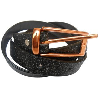 Gci Casual Stylish Women/Ladies Sparkle Bl-010 Black Belts Exclusive Design