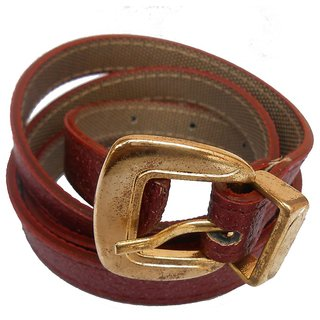 Gci Casual Stylish Women/Ladies Sparkle Bl-010 Maroon Belts Exclusive Design