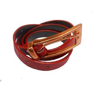 Gci Casual Stylish Women/Ladies Sparkle Bl-010 Red Belts Exclusive Design