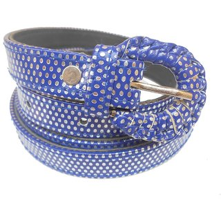 Gci Casual Stylish Women/Ladies Polka Dot Bl-09 Blue Belts Exclusive Design